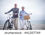 senior couple having ride with... | Shutterstock . vector #441207769