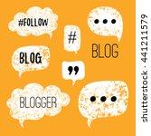 vector speech bubbles with... | Shutterstock .eps vector #441211579