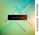geometric vector background.... | Shutterstock .eps vector #441212866