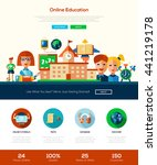 school and education web site... | Shutterstock . vector #441219178