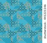 patchwork seamless floral... | Shutterstock . vector #441221146