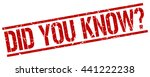 did you know stamp.stamp.sign... | Shutterstock .eps vector #441222238
