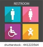 vector application restroom...   Shutterstock .eps vector #441223564