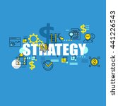 business banner with strategy... | Shutterstock .eps vector #441226543