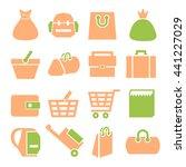 sack  bag icon set | Shutterstock .eps vector #441227029