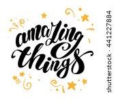 vector hand written text...   Shutterstock .eps vector #441227884