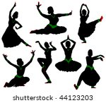 Silhouettes Of Dancers....