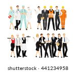 group of professional people... | Shutterstock .eps vector #441234958