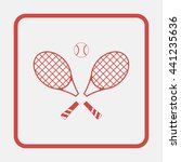 tennis rackets with ball icon. | Shutterstock . vector #441235636