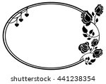 oval black and white frame with ... | Shutterstock .eps vector #441238354