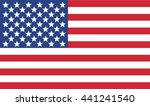 american flag vector | Shutterstock .eps vector #441241540