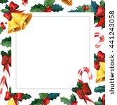 winter holyday greeting card.... | Shutterstock . vector #441243058