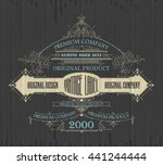 vintage typographic label... | Shutterstock .eps vector #441244444