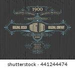 vintage typographic label... | Shutterstock .eps vector #441244474