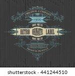 vintage typographic label... | Shutterstock .eps vector #441244510