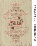 vintage typographic label... | Shutterstock .eps vector #441244528