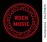 stamp rock music. red sign on... | Shutterstock .eps vector #441255874