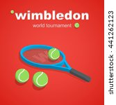 vector illustration of tennis... | Shutterstock .eps vector #441262123