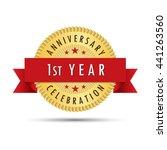 first year anniversary... | Shutterstock .eps vector #441263560