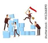 vector illustration of teamwork ...   Shutterstock .eps vector #441266890