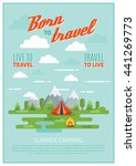 summer camping poster with tent ...   Shutterstock .eps vector #441269773