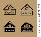 set of hotel mountain badge...   Shutterstock .eps vector #441271099