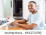 portrait of happy young man... | Shutterstock . vector #441271330