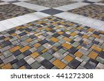 the texture of the pavement of... | Shutterstock . vector #441272308
