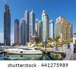 dubai marina united arab... | Shutterstock . vector #441275989