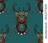 hand drawn seamless pattern... | Shutterstock .eps vector #441277324