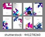 geometric cover background ... | Shutterstock .eps vector #441278260