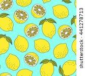 lemonade seamless colorful... | Shutterstock .eps vector #441278713