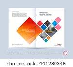 vector design for cover annual...   Shutterstock .eps vector #441280348