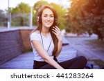 close up portrait of sexy girl... | Shutterstock . vector #441283264