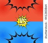 versus wording comic fight... | Shutterstock .eps vector #441283864