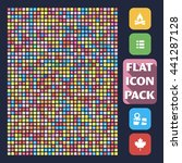 set of flat icons. 1200 general ...