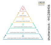 pyramid for infographics.... | Shutterstock .eps vector #441288406