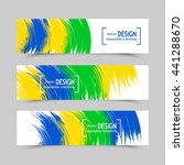 set of banners. three color... | Shutterstock .eps vector #441288670