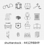law and justice thin line... | Shutterstock .eps vector #441298849