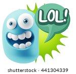 3d illustration laughing... | Shutterstock . vector #441304339