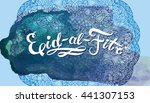 eid al fitr invitation card.... | Shutterstock .eps vector #441307153