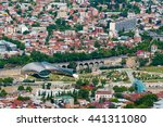 aerial view of tbilisi city... | Shutterstock . vector #441311080