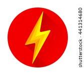 lightning icon flat design long ... | Shutterstock .eps vector #441314680
