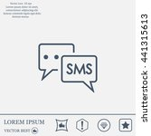 sms sign icon | Shutterstock .eps vector #441315613