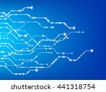 abstract technology background. ... | Shutterstock .eps vector #441318754