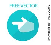 pointer finger free vector... | Shutterstock .eps vector #441320398