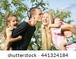 portrait of a happy family... | Shutterstock . vector #441324184