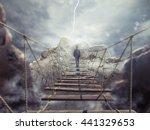 3d Rendering Of Unstable Bridge
