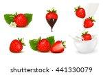 set of ripe sweet strawberry... | Shutterstock .eps vector #441330079
