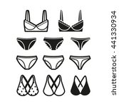 woman underwear icon set | Shutterstock .eps vector #441330934